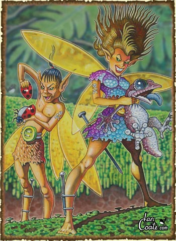Fairy Feral - Australian Magical Creature by Ian Coate